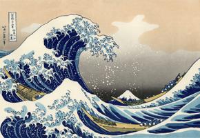 Hokusai wave copy