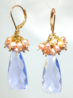 NL WL Aquamarine pearl Earrings