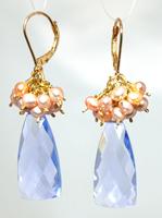 NL WL Aquamarine pearl Earrings