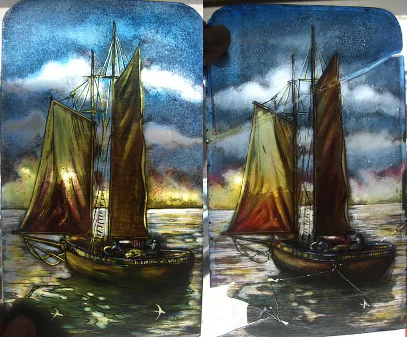 Painted Ship II Before and After