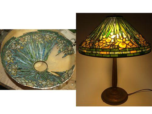 Tiffany Daffodil Restoration