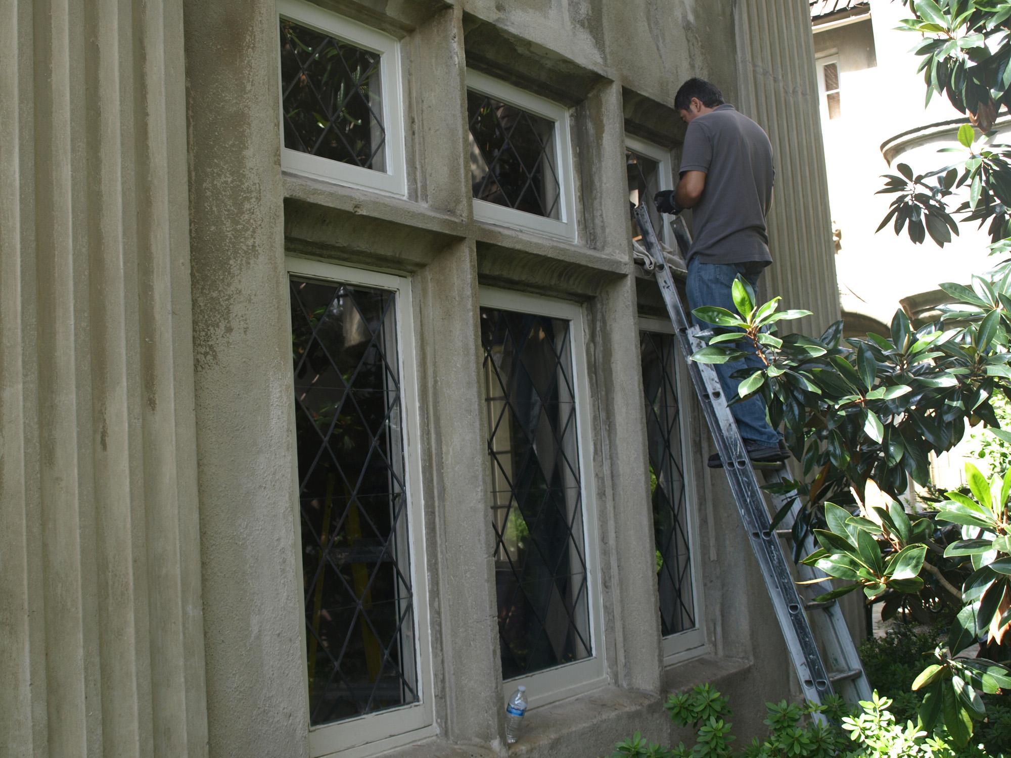Historic Leaded Glass Restoration, Concave/Convex design - AdammsGallery