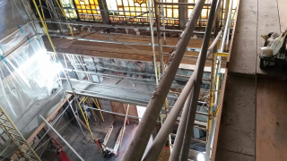 Tower Theatre scaffold